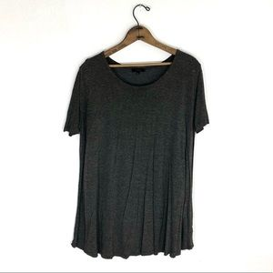 Talula Charcoal Grey Trapeze T-shirt Dress